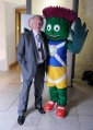 Bill Walker MSP meets Glasgow 2014 Commonwealth Games Mascot, Clyde