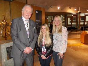 Bill Walker MSP with Claire Dunlop, West Fife Young Citizen of the Year, and Ann Farrell, West Fife Citzen of the Year