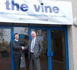 Bill Walker MSP and Tim Thomson, Manager of the Vine Conference Centre