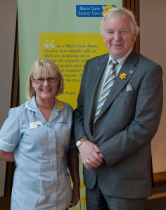 Bill Walker MSP with Marie Curie nurse Fiona Minto