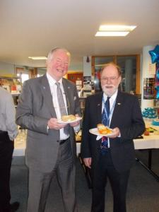 Bill Walker MSP and Cllr Dave Dempsey, Fife Council Conservative Leader, attend the Media House launch in the library of Inverkeithing High School