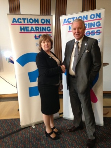 Bill Walker MSP with Delia Henry, Director of Action on Hearing Loss Scotland