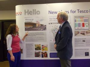 Bill Walker MSP with Gloria Coats, Corporate Affairs Manager for Tesco
