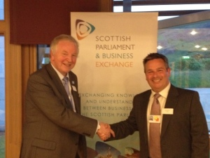 Dunfermline MSP Bill Walker meets the Chief Executive of SPBE, Arthur McIvor
