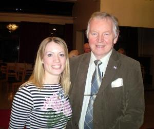Athlete Eilidh Child with Dunfermline MSP Bill Walker