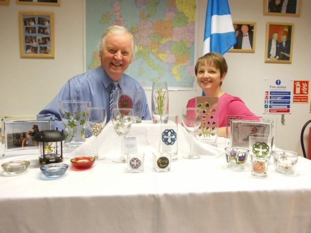 Jacquelyne Davidson of Jac By Design with Bill Walker MSP